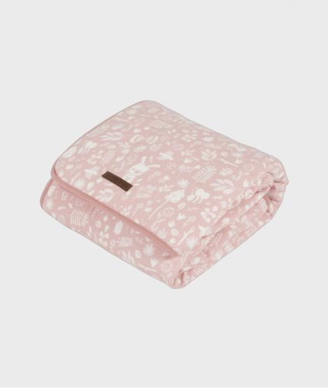 Patura Adventure din bumbac 70x100 cm, roz