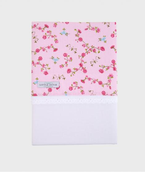 Cearsaf pentru patut, Little Dutch, Blossom, 110x140 cm