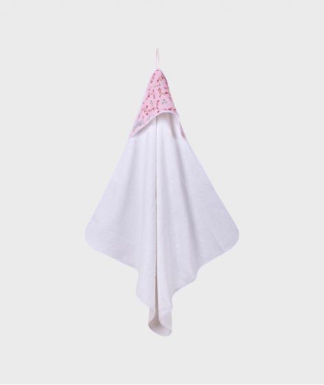 Prosop cu gluga, Little Dutch, 75x75 cm, roz