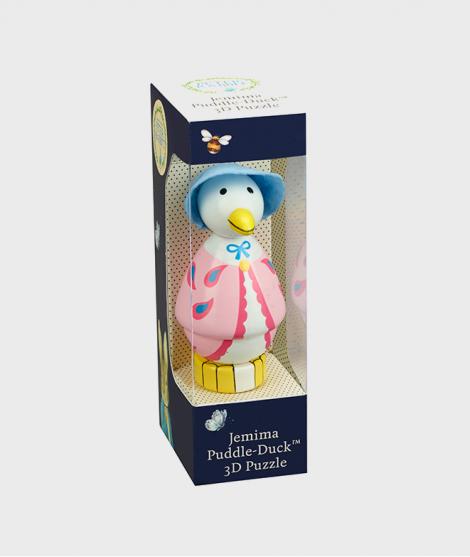 Puzzle 3D de lemn Jemina Puddle Duck - Jucarii pentru copiii -ElcoKids