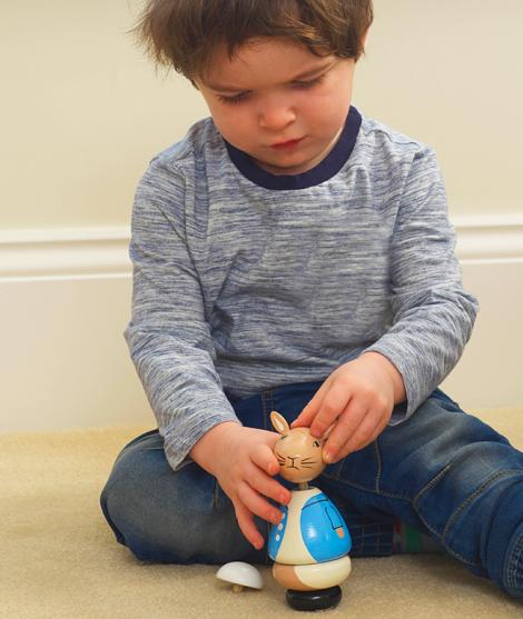 Puzzle 3D, Orange Tree Toys, Peter Rabbit, din lemn, 18 luni+