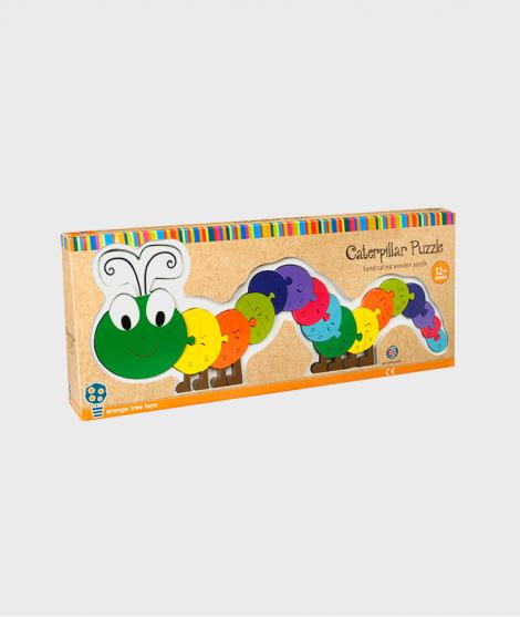 Puzzle alfabet, Orange Tree Toys, omida, din lemn, 12 luni+
