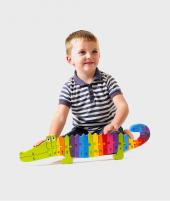 Puzzle alfabet, Orange Tree Toys, crocodil, din lemn, 12 luni+ - ElcoKids