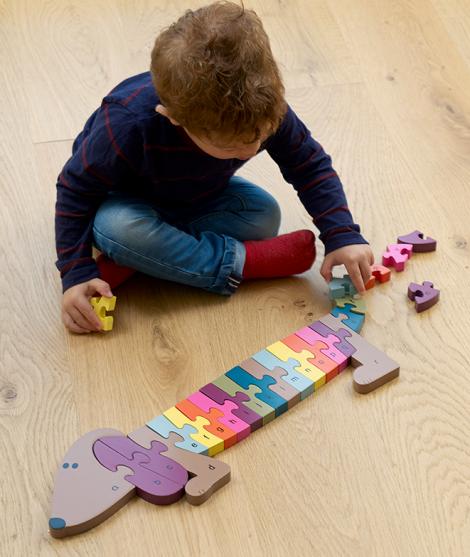 Puzzle alfabet - caine