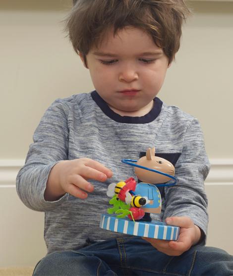 Labirint din lemn, Orange Tree Toys, Peter Rabbit, albastru