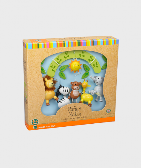 Carusel, Orange Tree Toys, Safari, din lemn