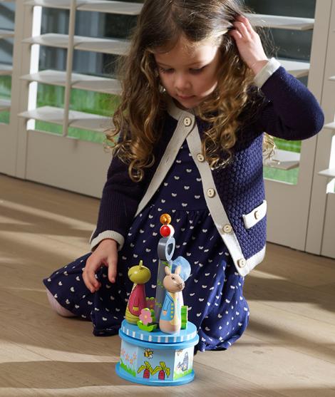 Carusel muzical, Orange Tree Toys, Petter Rabbit, din lemn