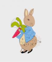 Puzzle numeric, Orange Tree Toys, Peter Rabbit, din lemn, 12 luni+ - ElcoKids
