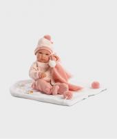Papusa Llorens Bimba cu pijama roz si paturica, 35 cm - Jucarii pentru copii -ElcoKids