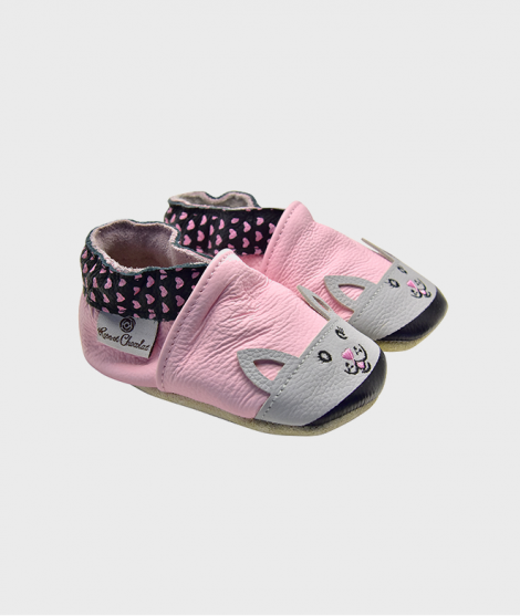 Botosei din piele, Rose et Chocolat, Sweetheart Kitty Pink, 0-24 luni - Botosei copii -ElcoKids