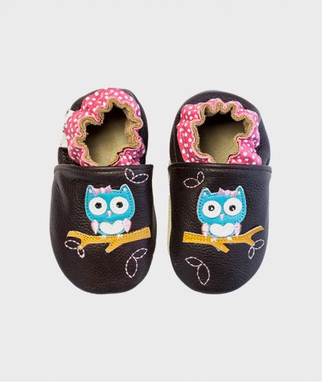 Botosei copii 0 - 4 ani, Polka Owl Brown