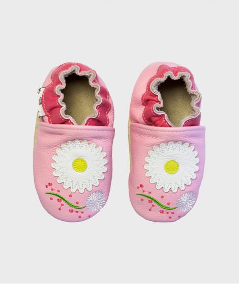 Botosei Daisy Pink, Rose et Chocolat, din piele, 0 - 4 ani