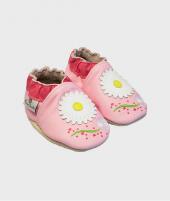 Botosei Daisy Pink, Rose et Chocolat, din piele, 0 - 4 ani - Botosei copii -ElcoKids