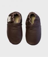 Botosei din piele, Rose et Chocolat, Uniz Brown, 0 - 4 ani - ElcoKids