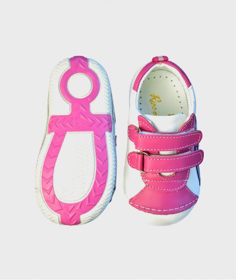 Sneakersi pentru fete White Pink Purple
