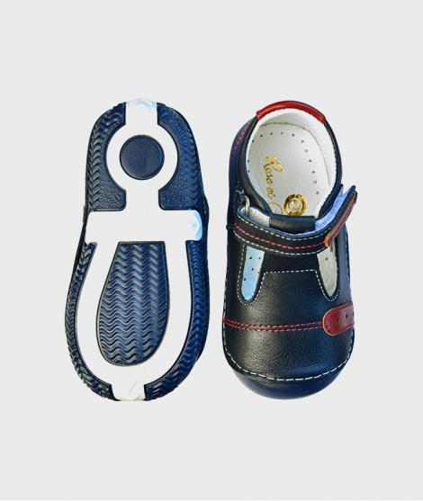 Sandalele pentru baietei Navy T-strap