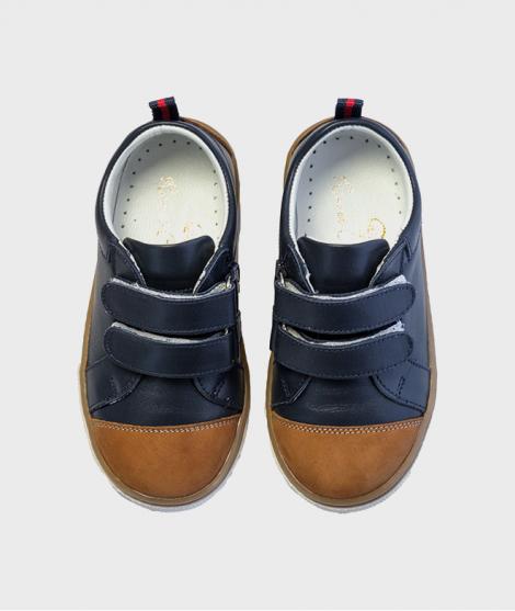 Pantofi pentru baieti Classic Navy Brown