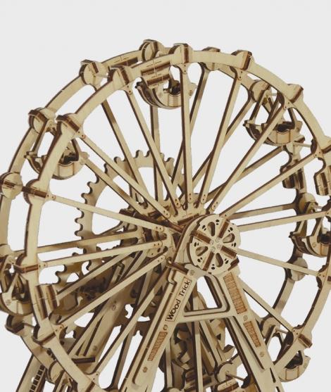 Puzzle mecanic 3D, Wood Trick, Roata de observatie, 227 piese