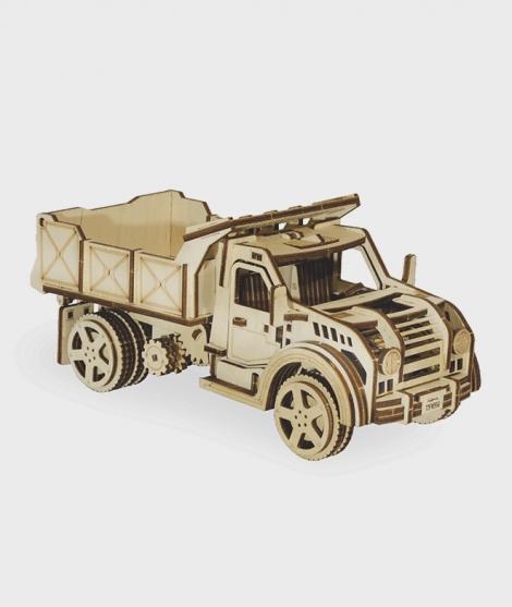 Puzzle mecanic 3D, Wood Trick, Autobasculanta, 205 piese