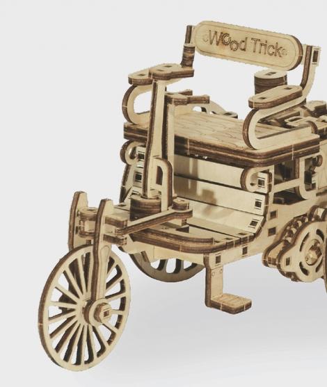 Puzzle mecanic 3D Prima masina