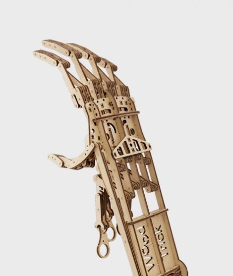 Puzzle mecanic 3D, Wood Trick, Mana, 199 piese