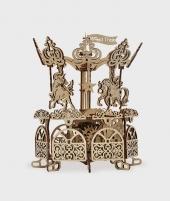 Puzzle mecanic 3D Carusel - Puzzle 3D din lemn -ElcoKids
