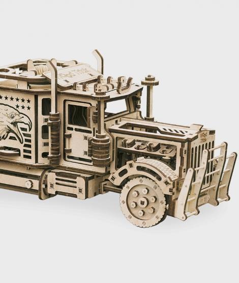 Puzzle mecanic 3D, Wood Trick, Cap tractor mare, 485 piese