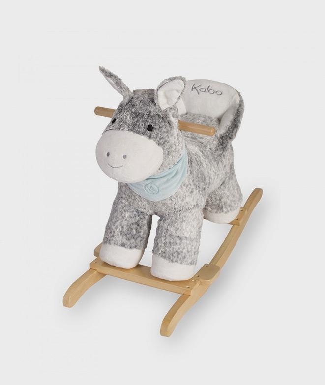 Balansoar din lemn cu catifea 18-36 luni, model magarus - Balansoare -ElcoKids