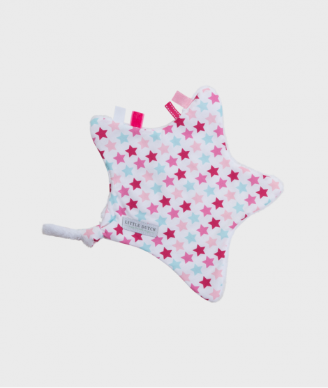 Jucarie doudou stea, Little Dutch, Mix Stars, 30x35 cm - Pentru bebelusi -ElcoKids