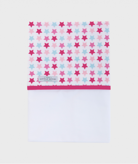 Cearsaf pentru patut 110x140 cm Mix Stars, roz