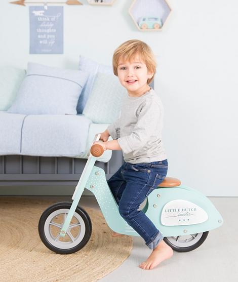 Scooter de lemn pentru copii, Little Dutch, 82 cm