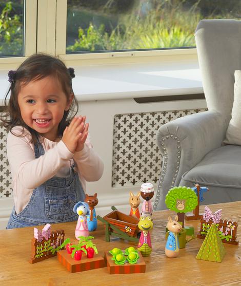 Set de joaca, Orange Tree Toys, Peter Rabbit, din lemn
