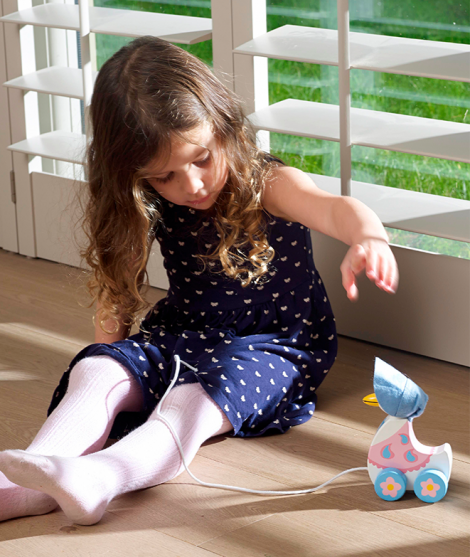 Jucarie de tras, Orange Tree Toys, Jemima Puddle-Duck