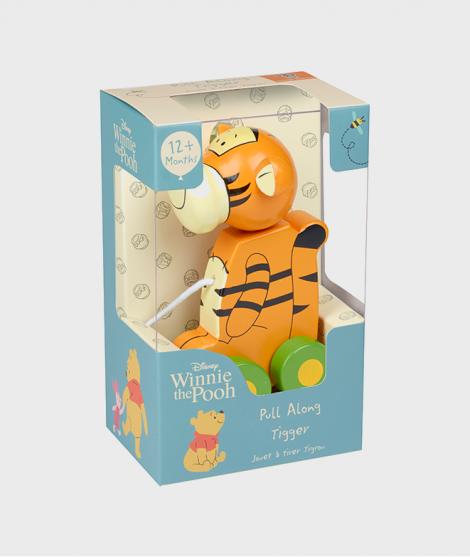 Jucarie de tras, Orange Tree Toys, tigru, din lemn