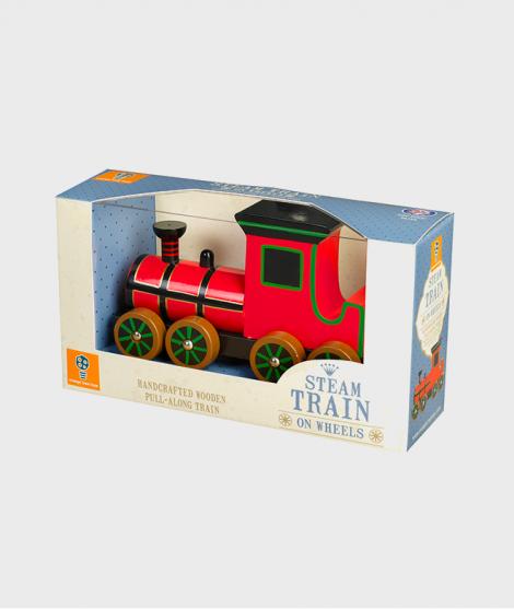 Jucarie de tras, Orange Tree Toys, locomotiva, rosie