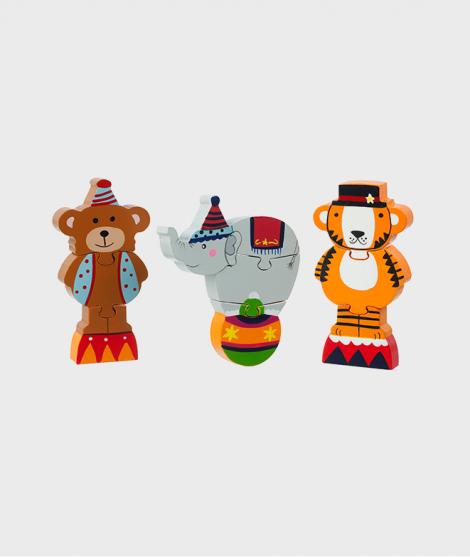 Set puzzle, Orange Tree Toys, Circ, din lemn, 12 luni+ - ElcoKids