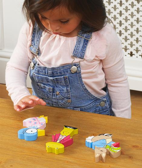 Set puzzle, Orange Tree Toys, Peter Rabbit, din lemn, 12 luni+