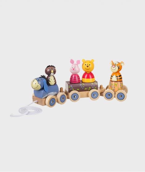 Puzzle tip tren, Orange Tree Toys, Winnie The Pooh, din lemn, 12 luni+ - ElcoKids