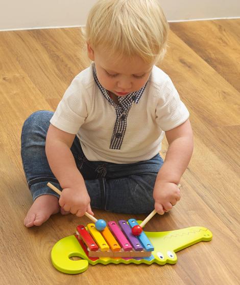 Xilofon pentru copii, forma Crocodil