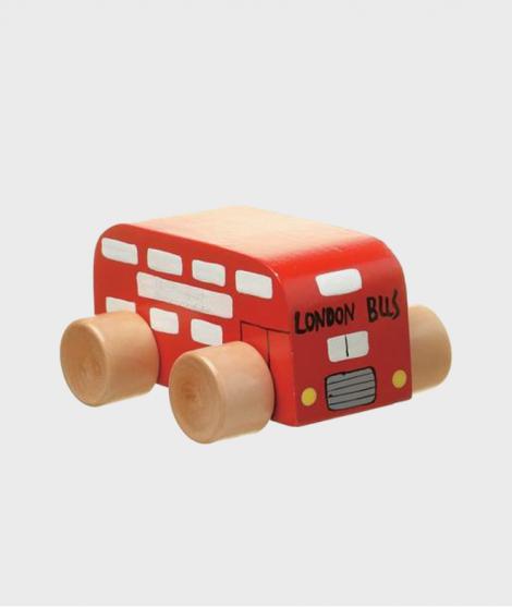 Jucarie autobuz de lemn London Bus