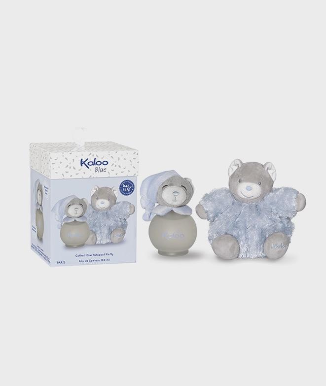 Parfum Kaloo Pentru Copii 100 Ml Cu Ursulet De Plus Albastru