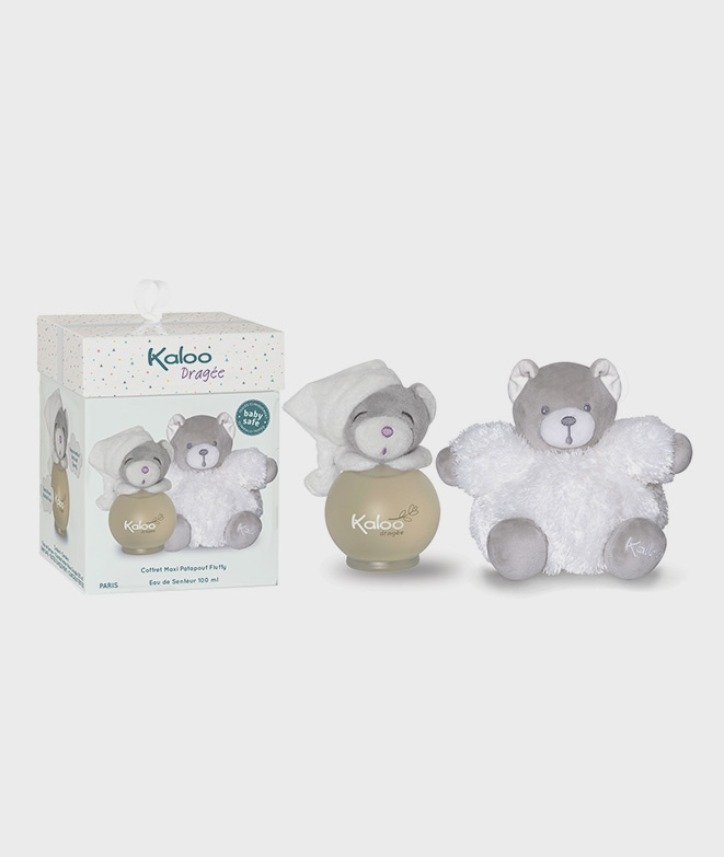 Parfum Kaloo Pentru Copii 100 Ml Cu Ursulet De Plus Alb