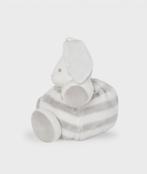 Iepuras de plus Kaloo, gri cu crem, 30 cm - Jucarii de plus bebelusi -ElcoKids