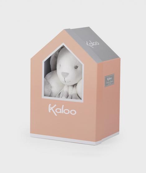 Iepuras de plus, Kaloo, gri cu crem, 30 cm