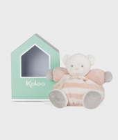 Ursulet de plus peach cu crem, 25 cm, Kaloo - Jucarii de plus -ElcoKids