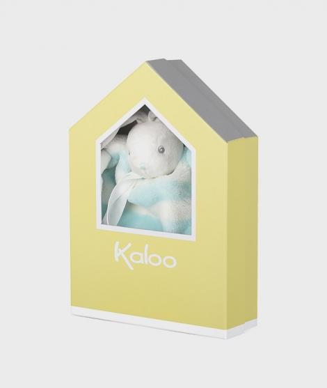 Jucarie doudou din plus, Kaloo, iepuras aqua cu crem, 20 cm