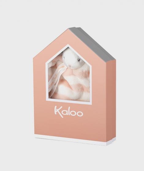 Jucarie doudou din plus, Kaloo, iepuras peach cu crem, 20 cm