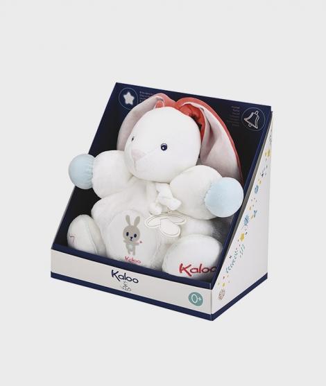 Iepuras de plus Kaloo cu sunete, alb, 30 cm