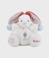 Iepuras de plus Kaloo cu sunete, alb, 30 cm - Jucarii de plus -ElcoKids