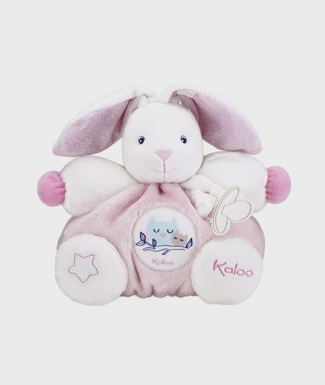 Jucarie de plus Kaloo, iepuras roz, 25 cm